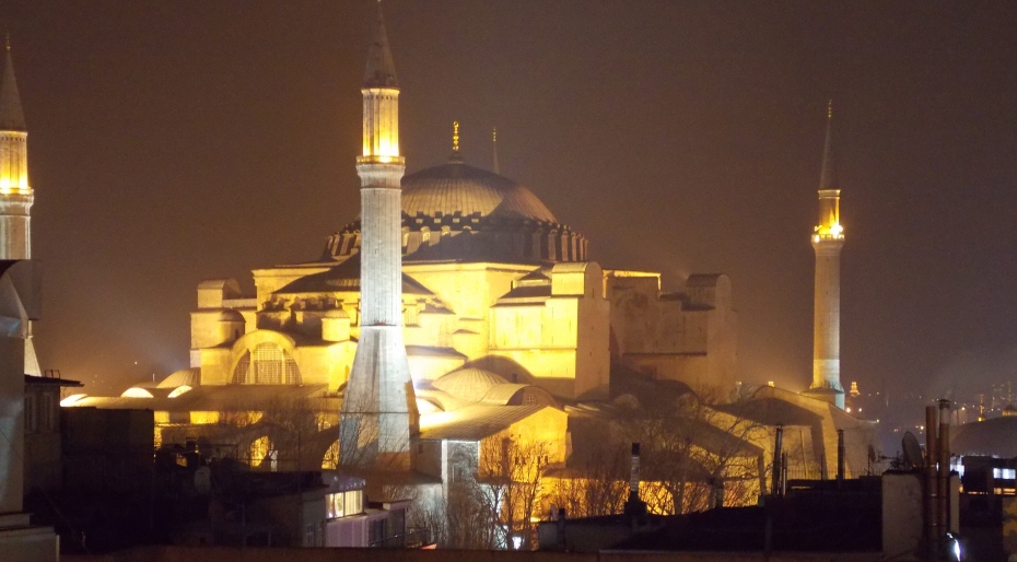 Hagia Sophia from terrace of the Ambassador Hotel