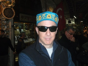 David Beckwith looking stylist at the Grand Bazaar