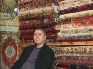 Our friend Mahmet in his carpet shop in the Grand Bazaar