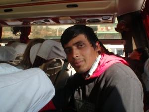 Biplab, my bus buddy.
