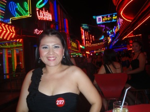The lovely Yui (number 277 in your program) and the lights of Soi Cowboy