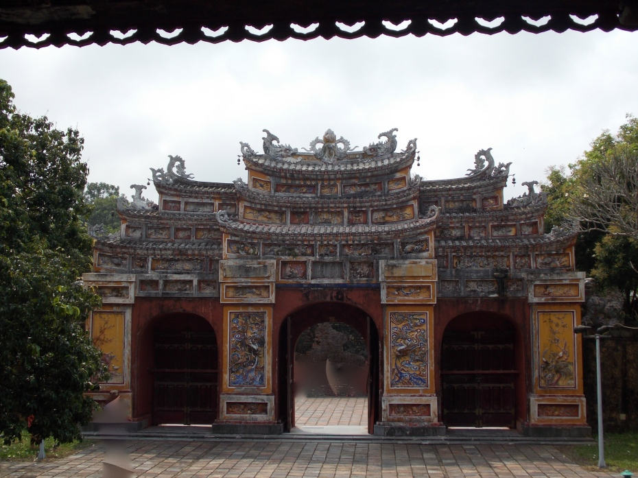 Inside the Imperial Palace in Hue'.