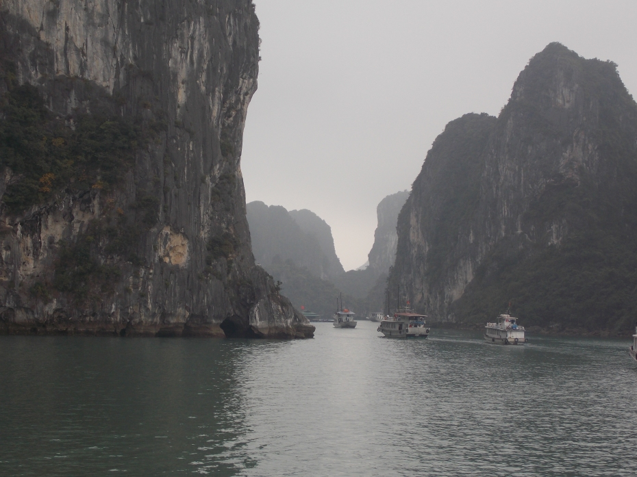We were told that 500 boats per day take people to explore the mysteries of Ha Long Bay.