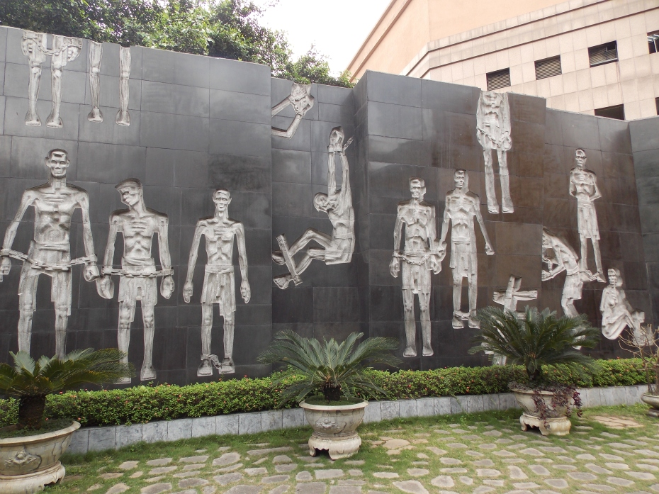 Image on the wall of the infamous Hanoi Hilton.