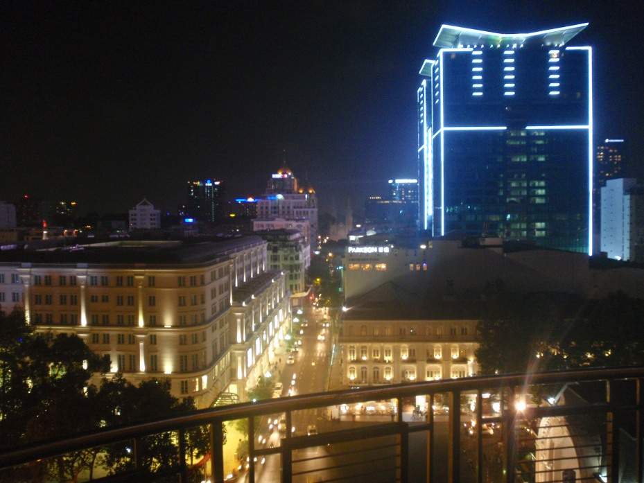 View of modern-day Saigon from the Saigon Saigon bar.