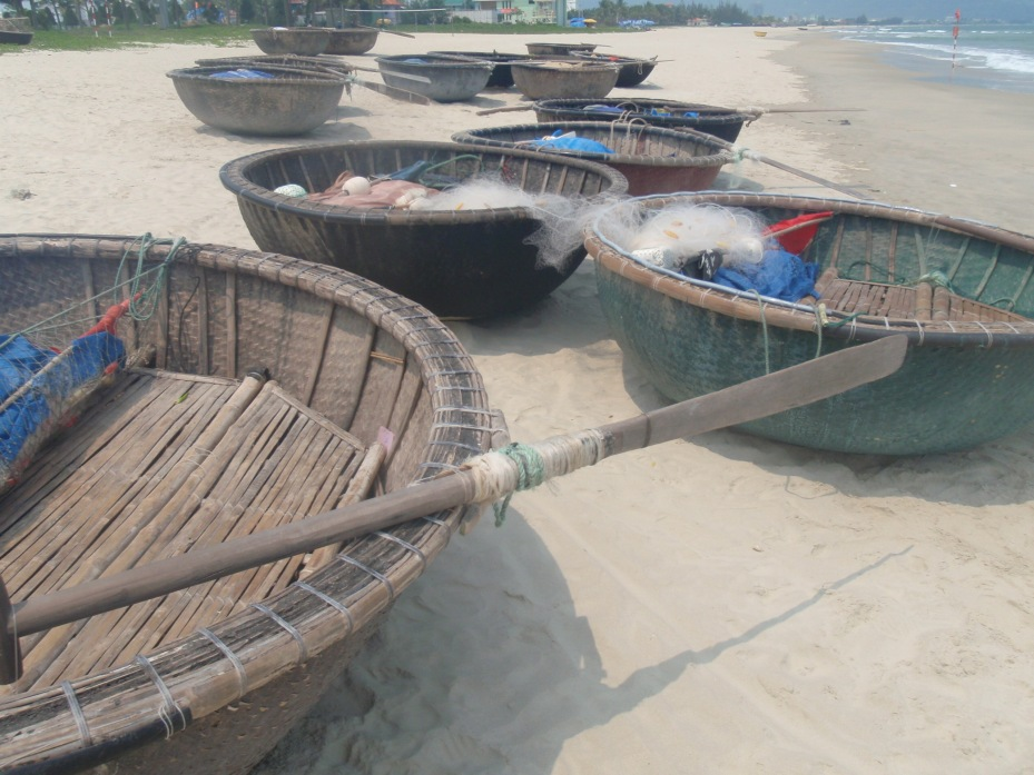 Fishing boats on China Beach.