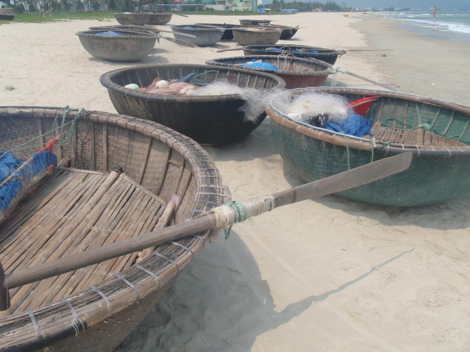 Fishing boats on China Beach.