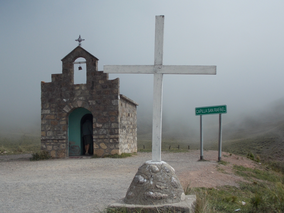 There was a very small Church in the Clouds, at the top of the pass.