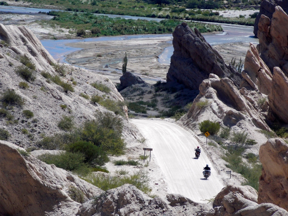 We saw many motorcycles in the canyons of the second day.
