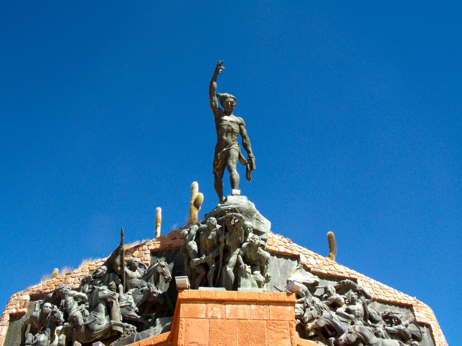 The monument to the native Indians in Humahuaca.
