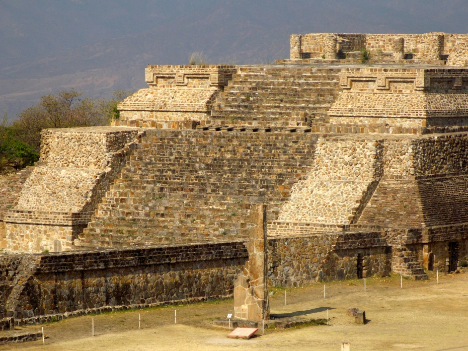 The major temple at Monte Alban