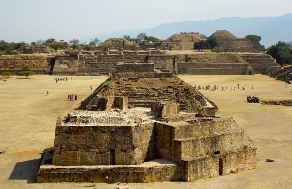 The structure in the foreground is the Monte Alban observatory.