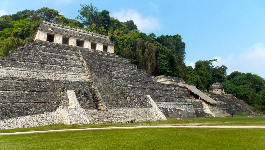 The Palenque tomb where Pakal's remains were uncovered in 1952.