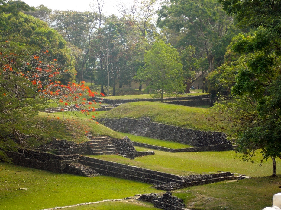 The MesoAmerican ballgame stadium in Palenque, where winning could cost you your head.