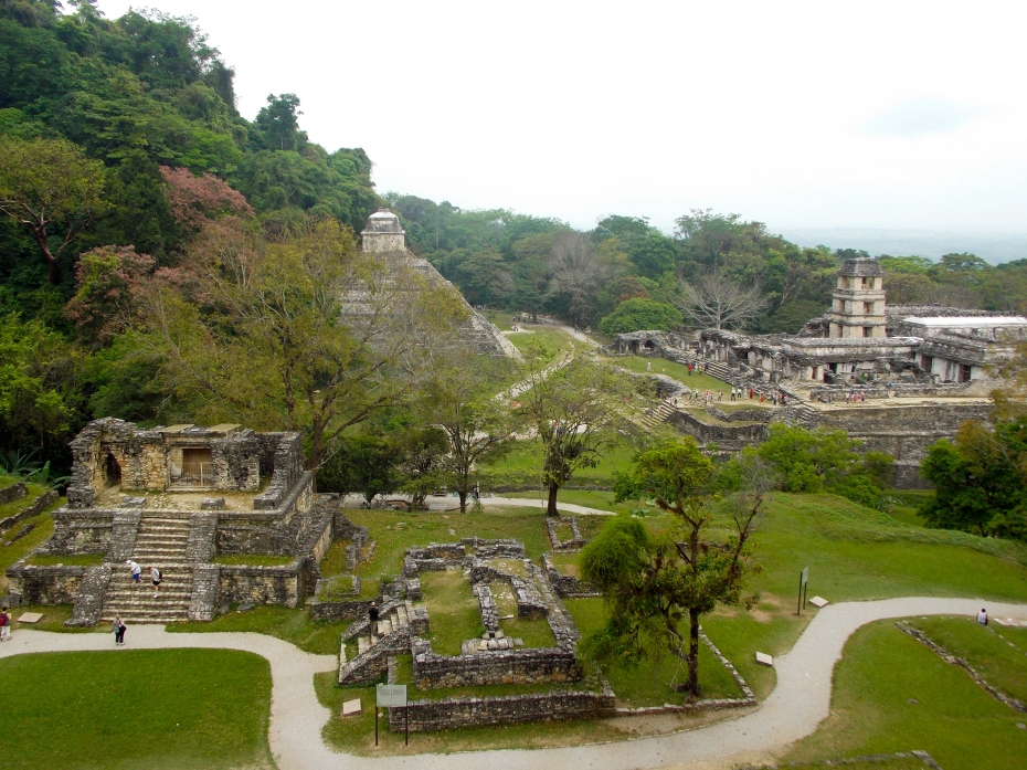 Good elevated look at Palenque, where 90% of the city's structures are still buried.