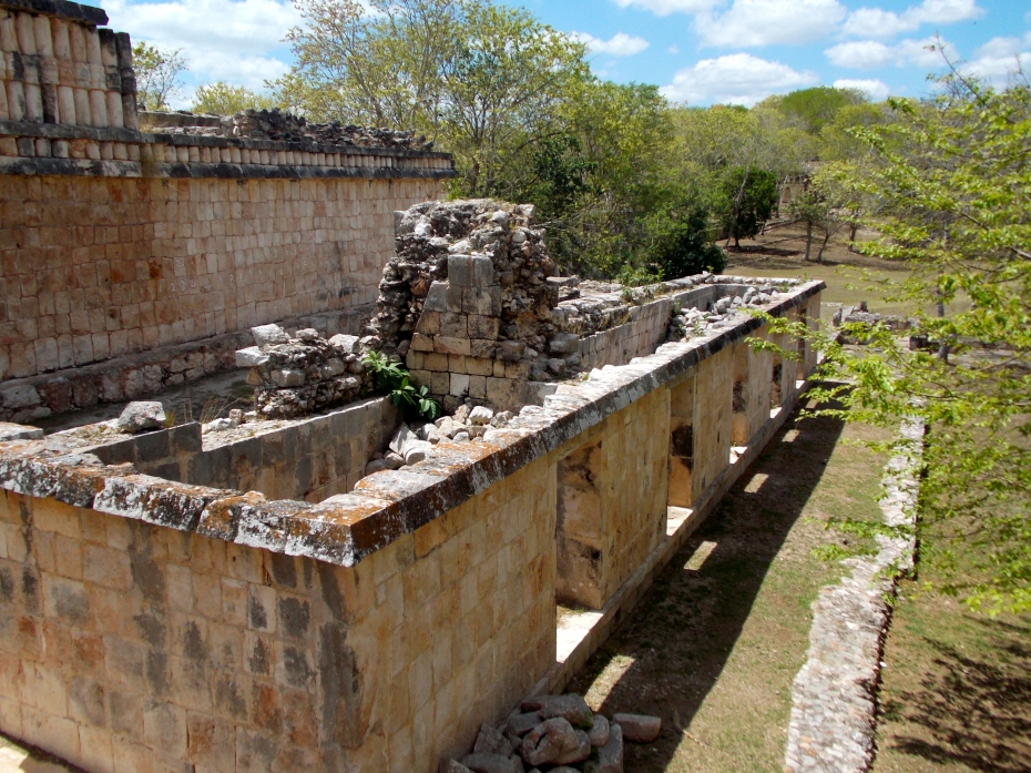The steam baths were usually placed near the ball court.