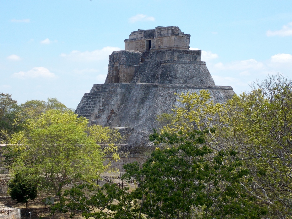 The great temple at Uxmal.