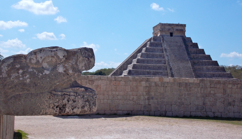 Serpents and pyramids, big hits in the Mayan culture.