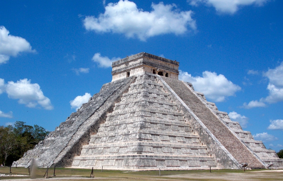 The iconic Pyramid of Kukulcan at Chichen Itza.