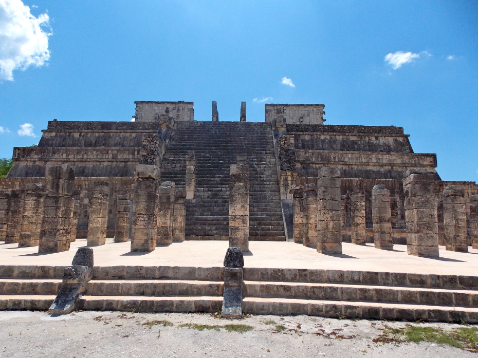The Temple of the Warriors at Chichen Itza.