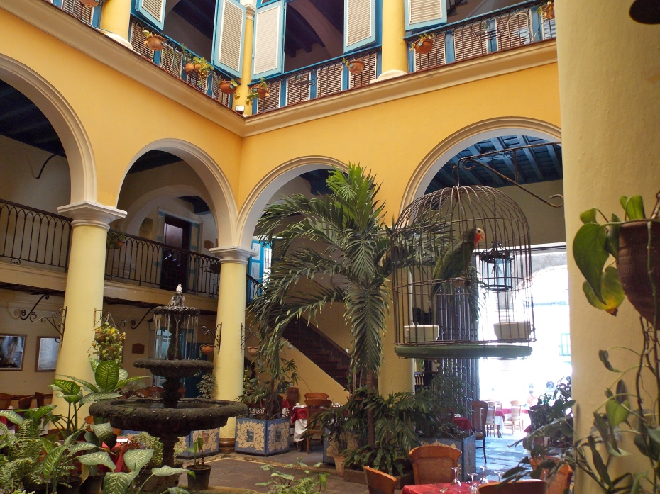 The beautiful old buildings  with the open-air core are so typical of Old Havana.
