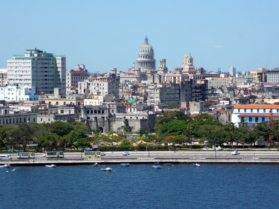 Havana, with the Capital Building in the distance.