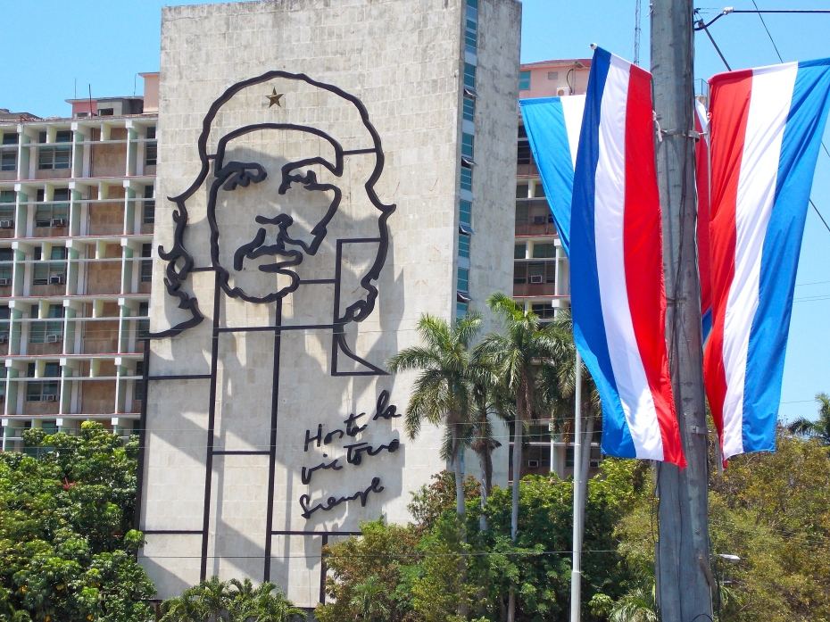 Che on the Department of the Interior building, at the Plaza of the Revolution