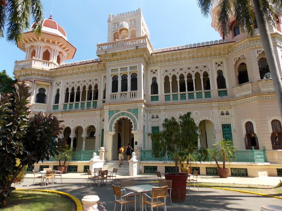 The Palacio de Valle in Cienfuegos, former home to a sugar baron, now a restaurant. My favorite building on the trip with so many different architectural influences working together. Beautiful.