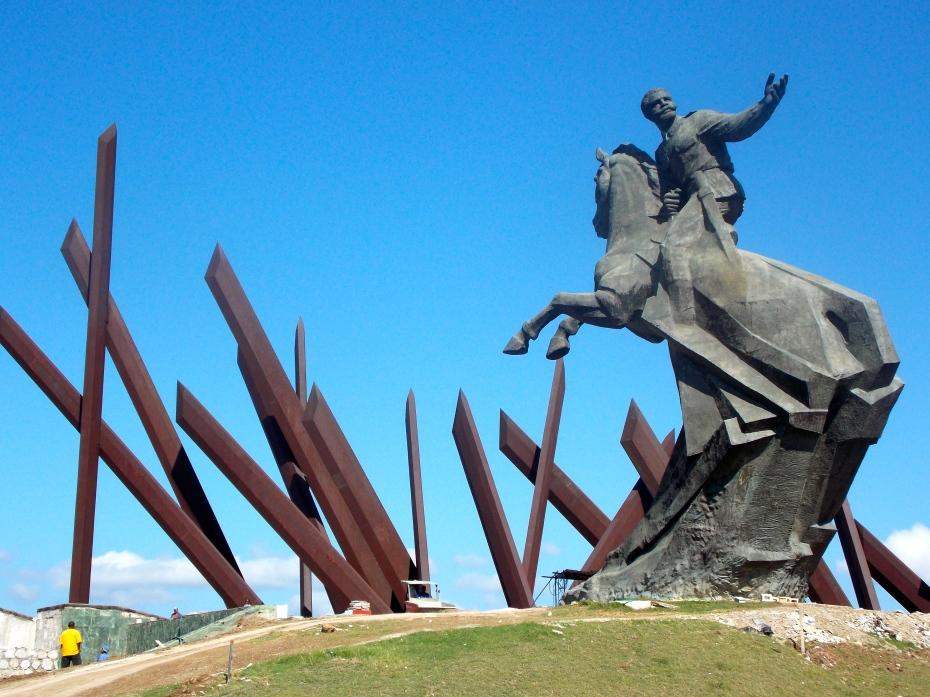 The machetes at this plaza in Santiago de Cuba send a definite message.
