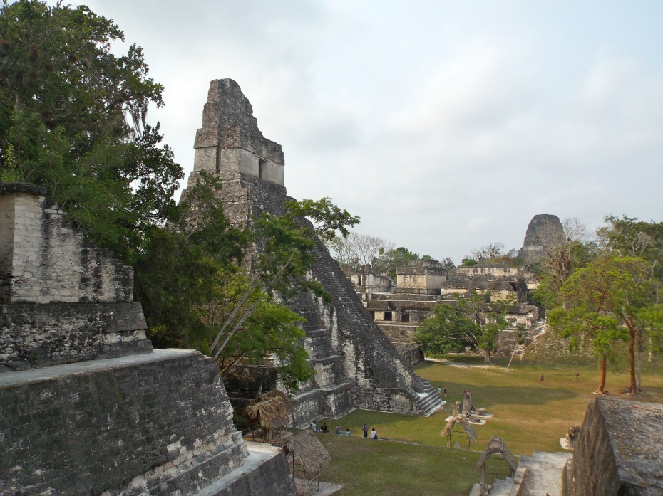 Temple One at Tikal, from the main acropolis.