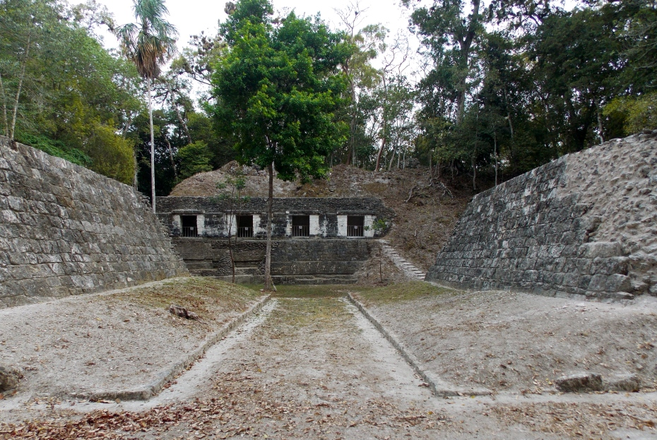 The ball court at Yaxha.