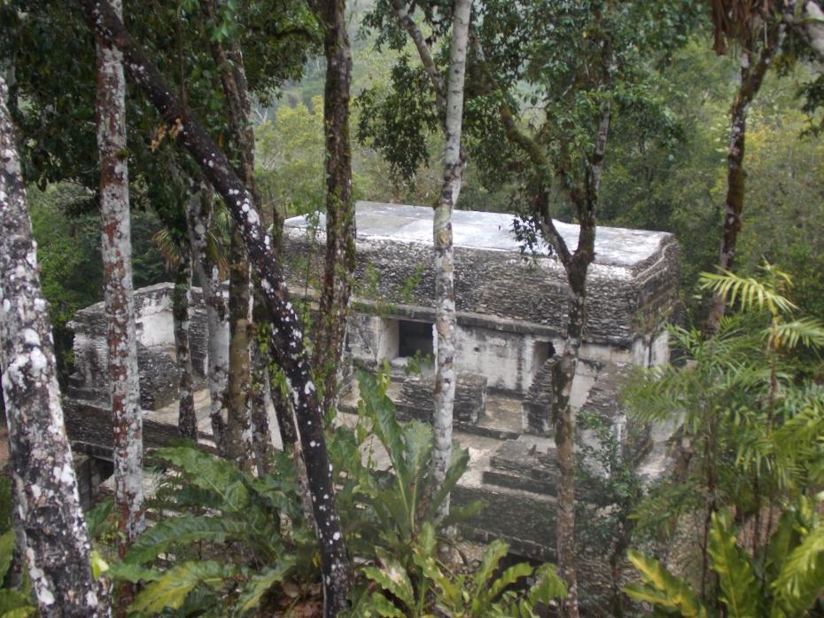 A temple at Nakun.