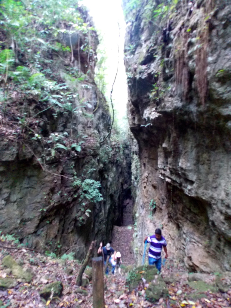 Emerging from the massive canyons surrounding Aguateca.